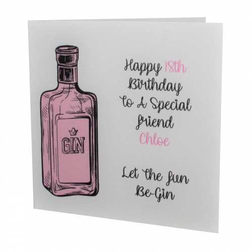 Personalised Gin Birthday Card