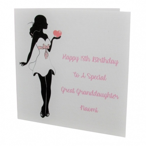 Personalised Lady Birthday Card