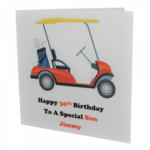 Personalised Golf Cart Birthday Card