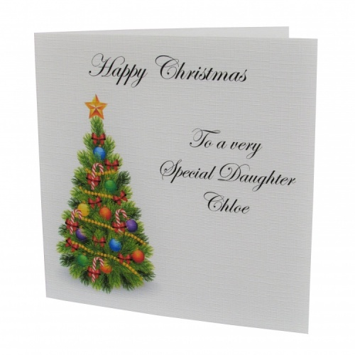 Personalised Christmas Tree Card