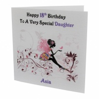 Personalised Fairy - Butterfly Birthday Card