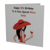 Personalised Elegant Lady Birthday Card