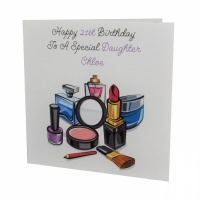 Personalised Makeup Birthday Card