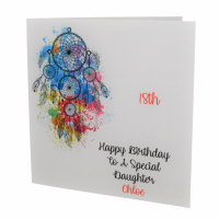 Personalised Dream Catcher Birthday Card