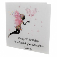 Personalised Fairy Butterfly Birthday Card