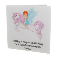 Personalised Purple Unicorn Birthday Card