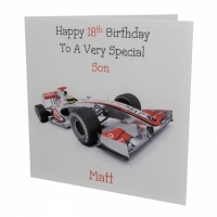 Personalised Formula 1 F1 Birthday Card