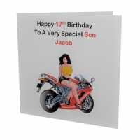 Personalised Motorbike Birthday Card