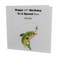 Personalised Fishing Birthday Card