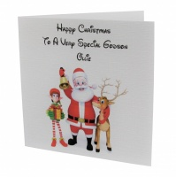 Personalised Santa / Reindeer Christmas Card