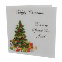 Personalised Christmas Tree With Presents Card