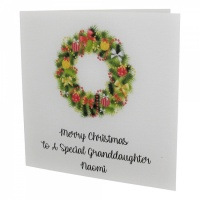 Personalised Wreath Christmas Card