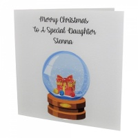 Personalised Snow Globe Christmas Card