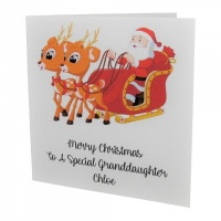 Personalised Santa & Reindeer Christmas Card